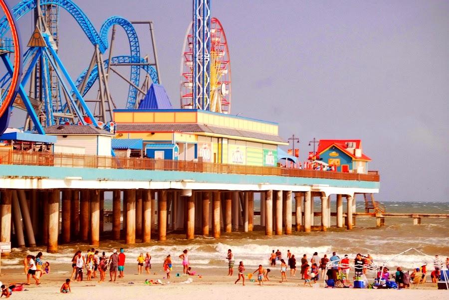 Pleasure Pier by Brenda Shoemake - City,  Street & Park  Amusement Parks