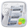 GO SMS PRO 55° GREY THEME APK for Bluestacks