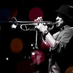 Trumpet by Roi Piñga - People Musicians & Entertainers ( serravalle outlet, nikon d40, musician )