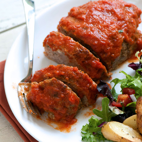 Italian Ricotta & Rosemary Meatloaf with Marinara