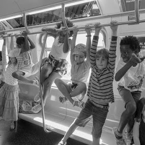 Subway Jungle Gym by VAM Photography - People Street & Candids ( places, subway, children, nyc, people, kids )