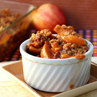 Spiced Apple-Peach Crisp
