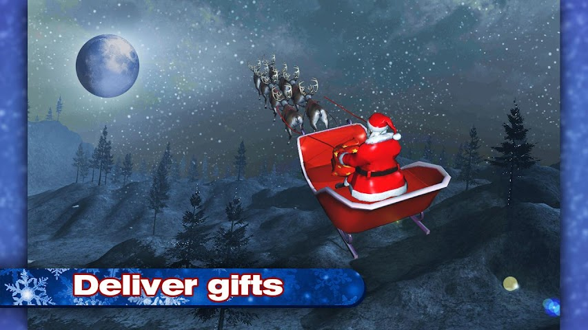 android 4x4 SUV Deer Santa Claus Screenshot 2