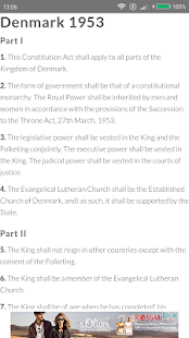 Constitution of Denmark - screenshot