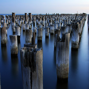 Princes Pier, Port Melbourne by Chris Romano - Landscapes Waterscapes ( melbourne, pier, landscapes, waterscapes )