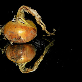 by Monika Norvaisaite - Novices Only Objects & Still Life ( food, dark, vegetables, yellow, onion )