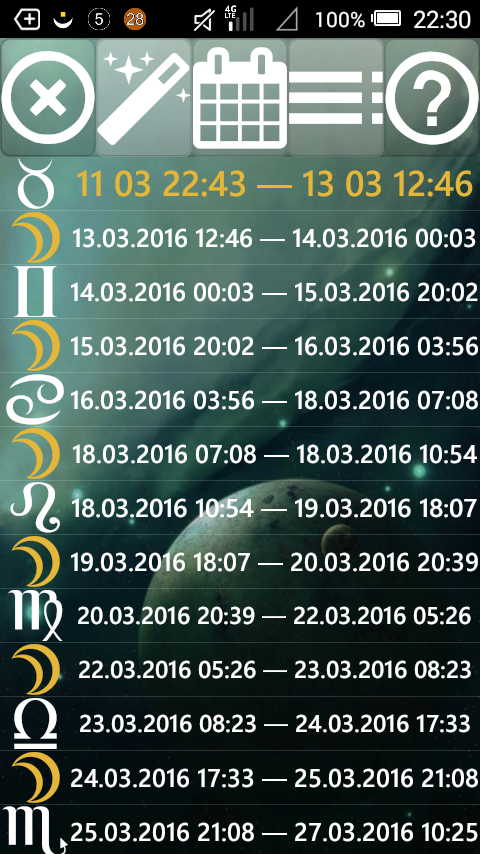 Lunar Calendar Screenshot 4