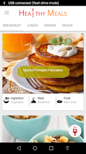 Healthy Meals Fitness app screenshot for Android