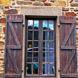 Window by Dobrin Anca - Buildings & Architecture Architectural Detail ( farm, building, window, street, brittany )