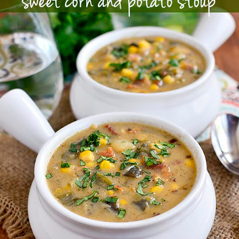 Roasted Poblano, Sweet Corn and Potato Soup