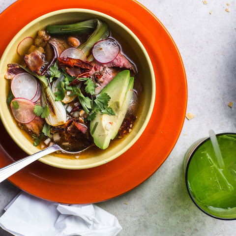Mexican Beef Soup with Beans and Bacon