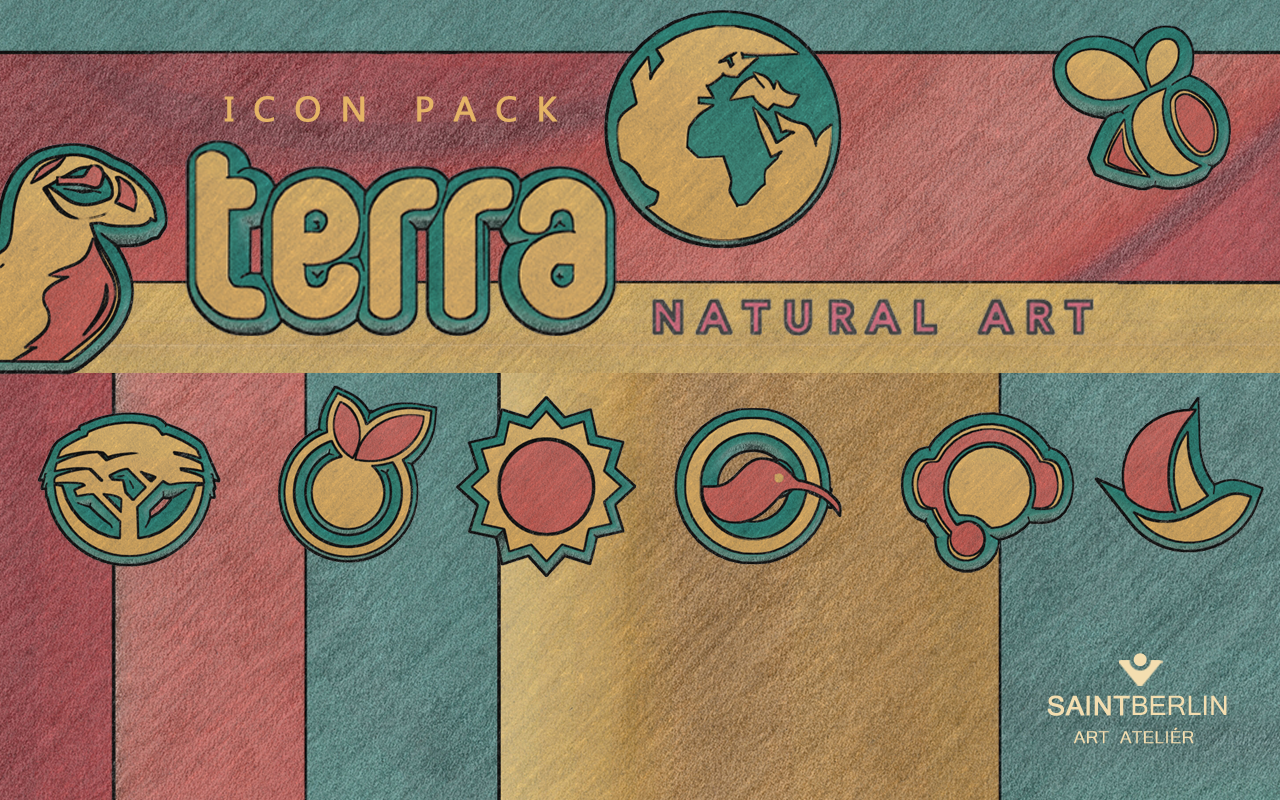Terra Icon Pack Natural Art Screenshot 7