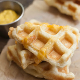 Cheesy Crescent Roll Waffle Bites
