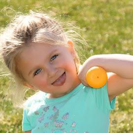 Let's Play Ball by Luanne Bullard Everden - Babies & Children Children Candids ( playing, girls, outdoors, grandchildren, children, toddlers )