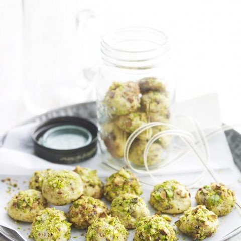 Marzipan and Pistachio Cookies