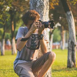 Photoshoot sunset by Dura Elisei - People Portraits of Men ( canon, shoot, sunset, photographer, portrait, photography )