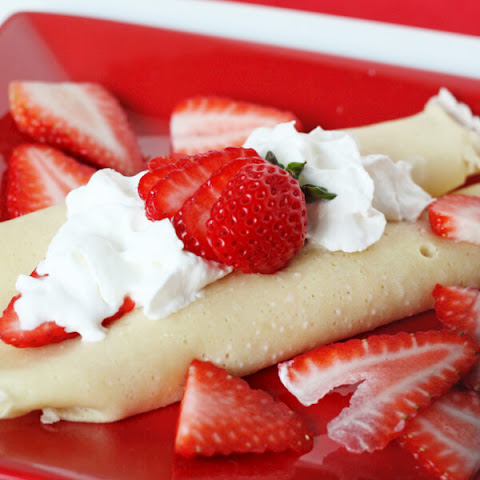 Easy Crepes with Strawberry Cream Cheese Filling