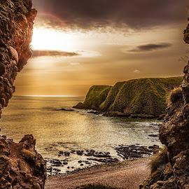 Sunset by Igor Sukmansky - Landscapes Travel ( scotland, sunset, sea, beach, sun )