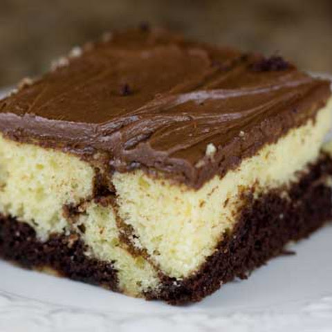 Easy Scratch Marble Sheet Cake