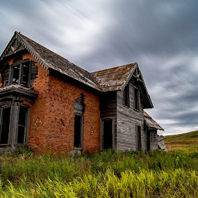 Sims House by Dustin White - Buildings & Architecture Decaying & Abandoned ( field, hdr, brick, decaying, abandoned )