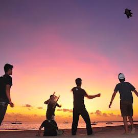 flying kites by Arman Setiawan - People Street & Candids