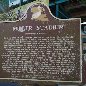 Built in 1948 Miller Stadium served as the home of the Crowley Millers who played in South Louisiana's semi-pro Teche League and the professional Gulf coast and Evangeline Leagues from 1948 to 1957. ...