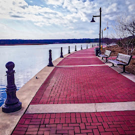 Leonardtown Wharf by Debra Branigan - City,  Street & Park  City Parks ( parks, historic district, wharf, city park, photography )