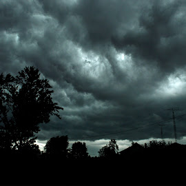 Darkness by Lauren N. - Landscapes Cloud Formations ( clouds, sky, silhouette, outdoors, dark, landscape, outside,  )