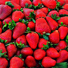 Fresh Strawberries by Francis Xavier Camilleri - Food & Drink Fruits & Vegetables