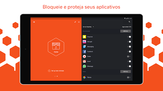 Hexlock - Bloqueio de Apps Screenshot