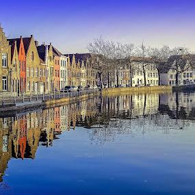 Reflections of Brugge... by Ioannis Alexander - City,  Street & Park  Neighborhoods (  )