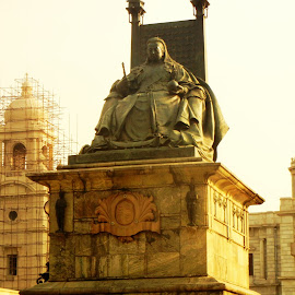 The QUEEN by Vikas Jorwal - Buildings & Architecture Statues & Monuments ( queen, kolkata, victorian, victoria, heritage )