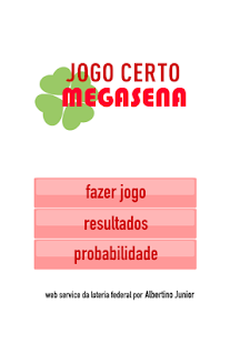 JogoCerto MegaSena- screenshot