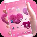 APK App Fluffy love Theme Pink heart for BB, BlackBerry