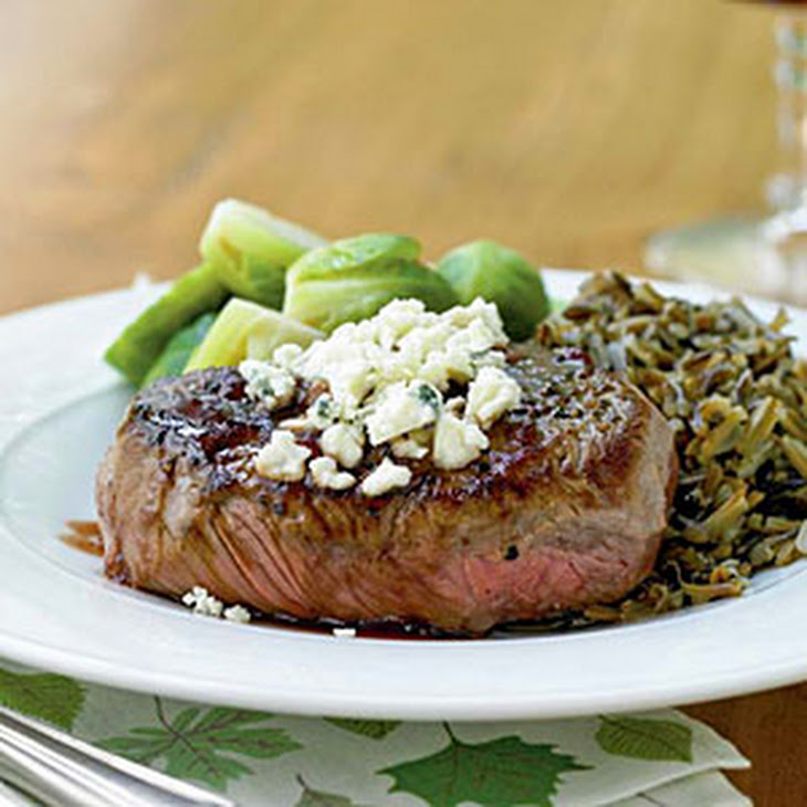 Steak Tenderloin In A Mushroom And Blue Cheese Sauce ...