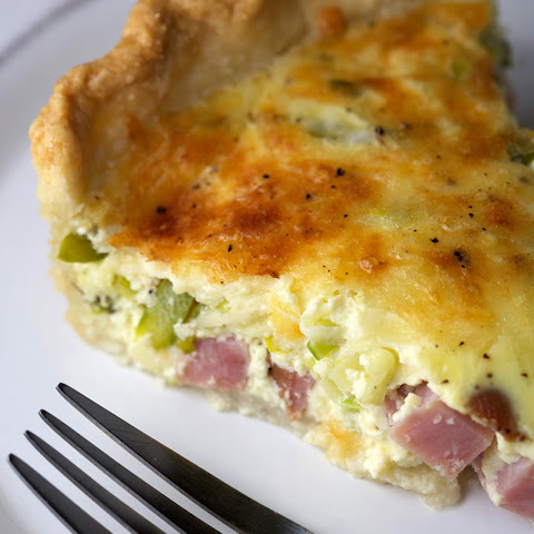 Savory Spring Ham and Asparagus Quiche
