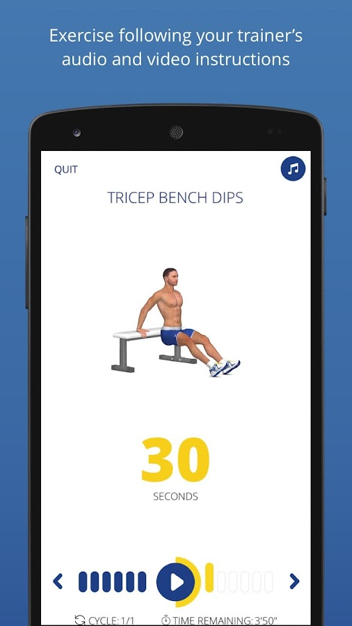 P4P 7 Minute Workout PRO Screenshot 4