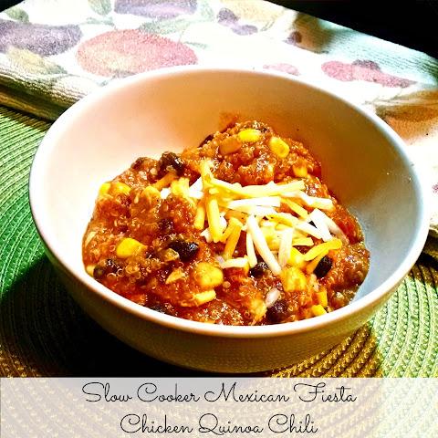 Slow Cooker Mexican Fiesta Chicken Quinoa Chili