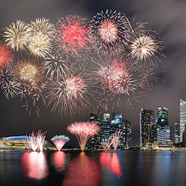 Ndp 2018 by Supriadi Lee - City,  Street & Park  Night ( singapore, city, marina bay, ndp, fireworks, platform )