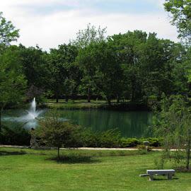 Lake at Lake View Cemetery by Christine B. - City,  Street & Park  Cemeteries ( ohio, lake view cemetery, cemetery, lake, cleveland,  )