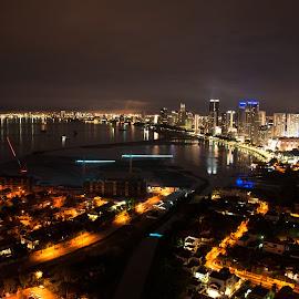 Penang Night by Calvin Tan - City,  Street & Park  Night