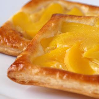 Peach and Custard Danish Pastry