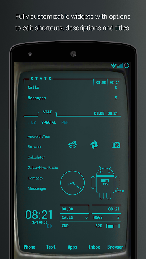 Pip-Tec Blue Icons & Live Wall Screenshot 0