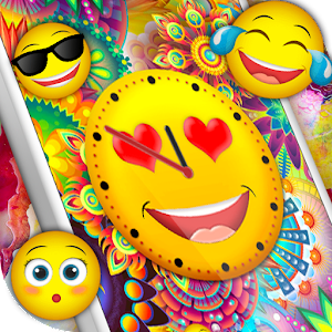 Emoji Clock Live Wallpaper Free Icon