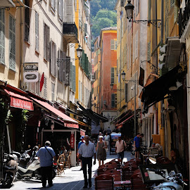 Nice is Nice by Victor Eliu - City,  Street & Park  Street Scenes ( nizza, ancient, nice, france, cityscape, district, street photography )