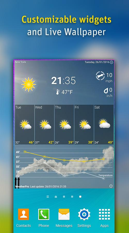 WeatherPro Screenshot 2