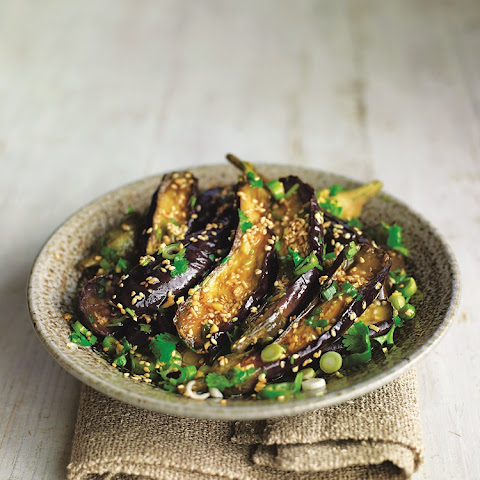 Steamed Eggplant With Sesame Dressing