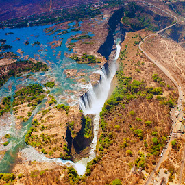 Victoria Falls by Stanley P. - Landscapes Waterscapes ( waterscapes )