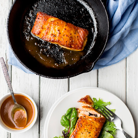 Tamarind-Chipotle Glazed Salmon