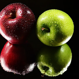 Washed Apples by Prasanta Das - Food & Drink Fruits & Vegetables ( washed, apples. red and green )
